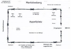 <a id='anker13' href='https://versteckte-geschichte-markkleeberg.de/quellenverzeichnis#aussenlager-des-kz-buchenwald13' target='_new'>Abb. 1: Lagerplan nach Angaben einer <br /> ehemaligen Häftlingsfrau</a>