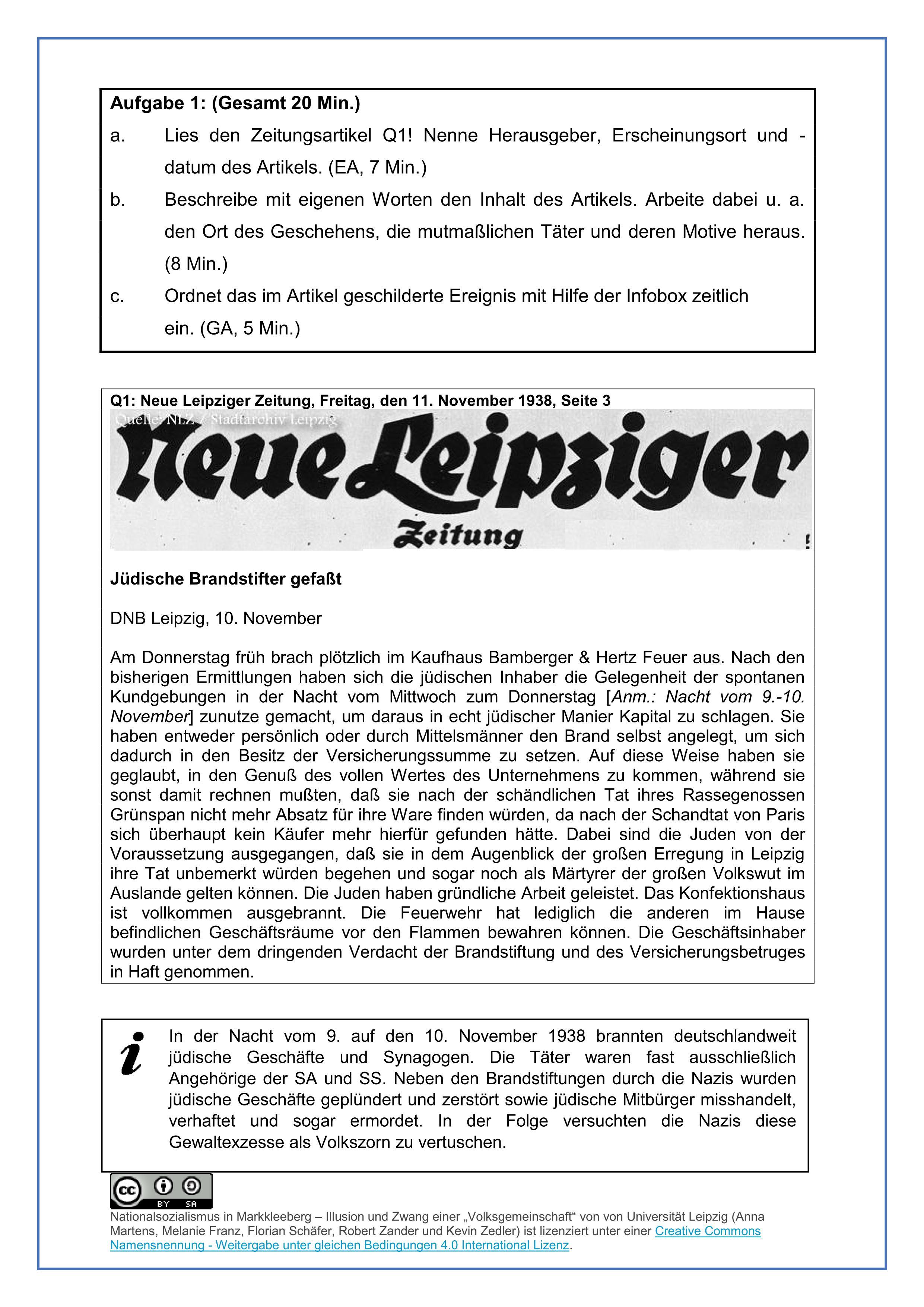 Unterrichtsmaterial - Versteckte Geschichte Markkleeberg ...